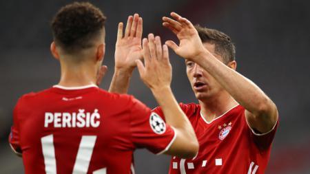Bekuk Chelsea 4-1 di leg kedua babak 16 besar Liga Champions, Minggu (09/08/20) dini hari WIB, Bayern Munchen melaju ke perempat final dengan agregat 7-1. - INDOSPORT