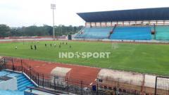 Indosport - Stadion Moch Soebroto, Magelang yang cocok dijadikan stadion alternatif oleh PT. LIB untuk lanjutan Liga 1 2020.