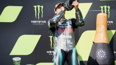 Indosport - Naik podium untuk pertama kalinya di MotoGP, Morbidelli pun mengungkapkan rasa terima kasihnya ke Valentino Rossi.