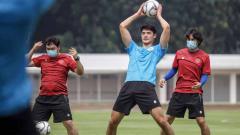 Indosport - Elkan Baggott saat berlatih bersama Timnas U-19.