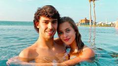 Indosport - Pemain Atletico Madrid, Joao Felix, dan kekasihnya, Margarida Corceiro.