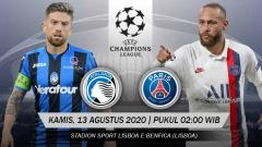 Indosport - Pertandingan Atalanta vs Paris Saint Germain (Liga Champions).