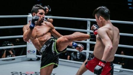Mehdi Zatout mengalahkan Han Zi Hao di ajang ONE: A NEW TOMORROW pada Januari 2020. - INDOSPORT