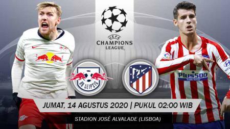 INDOSPORT.COM - Berikut jadwal pertandingan perempat final Liga Championshari ini yang menyajikan duel seru antara RB Leipzig vs Atletico Madrid. - INDOSPORT