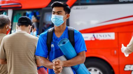 Pratama Arhan saat mengikuti TC bersama skuat Timnas U-19 di Jakarta. - INDOSPORT