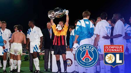 Keberhasilan Paris Saint-Germain dan Lyon ke semifinal Liga Champions tak bisa dipisahkan begitu saja dengan peristiwa penting pada 1993. - INDOSPORT