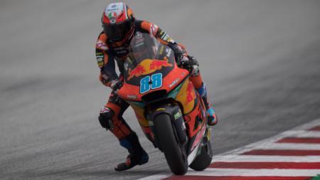 Pembalap Moto2 asal Spanyol, Jorge Martin, memastikan satu tempat di MotoGP 2021 bersama Tim Ducati. - INDOSPORT