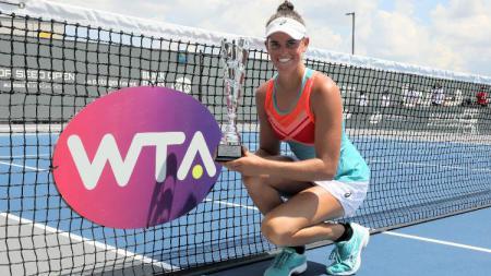Jennifer Brady juara Top Seed Open 2020 dengan skor 6-3, 6-4 atas Jil Teichmann. - INDOSPORT