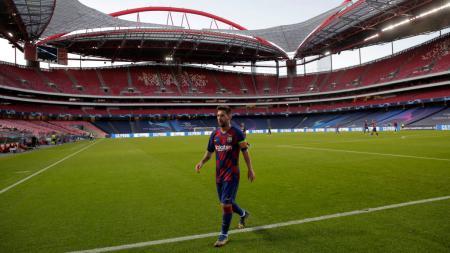 Musuh-musuhnya berjatuhan, Lionel Messi kabarnya masih mau angkat kaki dari raksasa LaLiga Spanyol, Barcelona. - INDOSPORT