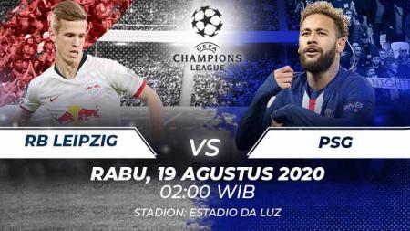 Link live streaming pertandingan RB Leipzig vs PSG. - INDOSPORT