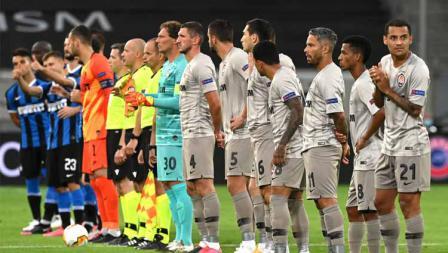 Kedua tim Inter Milan vs Shakhtar Donetsk mempersiapkan untuk bertanding pada semifinal Liga Europa 2019/20, Selasa (18/08/20).