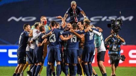 Paris Saint-Germain berhasil menyamai rekor Real Madrid usai menumbangkan RB Leipzig di semifinal Liga Champions 2019/20. - INDOSPORT
