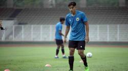 Jack Brown dalam sesi latihan di Timnas Indonesia U-19.