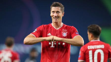 Pemain Bayern Munchen, Robert Lewandowski, tampil hebat selama tahun 2020 ini. - INDOSPORT