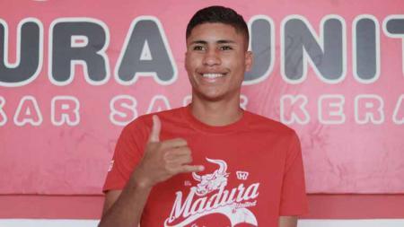 Striker Madura United asal Brasil, Robert Junior Rodrigues Santos. - INDOSPORT