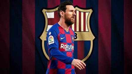 Joan Laporta paksa Lionel Messi bertahan di raksasa LaLiga Spanyol, Barcelona dengan kontrak tiga tahun dan pemangkasan gaji yang cukup besar. - INDOSPORT