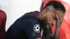 Indosport - Neymar menangis usai PSG dikalahkan Bayern Munchen di final Liga Champions