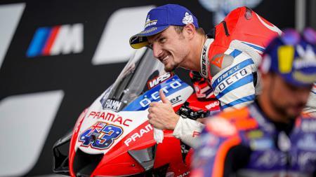 Pembalap Pramac Racing, Jack Miller, saat mempersiapkan balapan MotoGP Styria 2020. - INDOSPORT