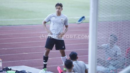 Suasana latihan terakhir para pemain Timnas Indonesia U-19 di Stadion Madya.