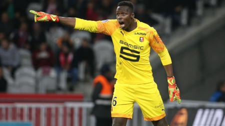 Eks kiper Rennes, Edouard Mendy, baru saja merapat ke klub Liga Inggris, Chelsea. - INDOSPORT