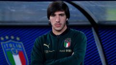 Indosport - Sandro Tonali saat memperkuat Timnas Italia
