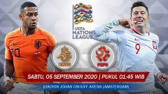 Indosport - link live streaming pertandingan UEFA Nations League antara Timnas Belanda melawan Timnas Polandia yang akan dilangsungkan pada Sabtu (05/09/20) pukul 01.45 WIB