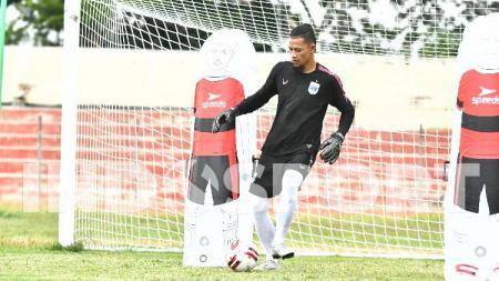Jandia Eka Putra saat kembali mengikuti sesi latihan rutin PSIS pada Kamis (03/09/20) sore di Stadion Kebondalem, Kendal. - INDOSPORT