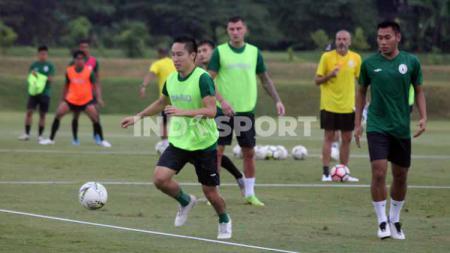 Sepekan lebih PSS Sleman menggelar latihan rutin jelang berlanjutnya Liga 1 2020. - INDOSPORT
