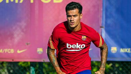 Philippe Coutinho kembali berlatih bersama tim Barcelona. - INDOSPORT