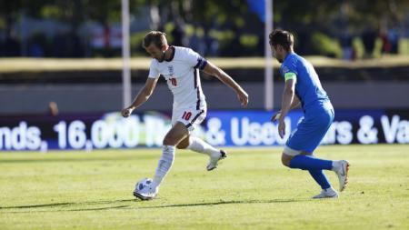 Aksi Harry Kane di laga Islandia vs Inggris dalam laga UEFA Nations League - INDOSPORT