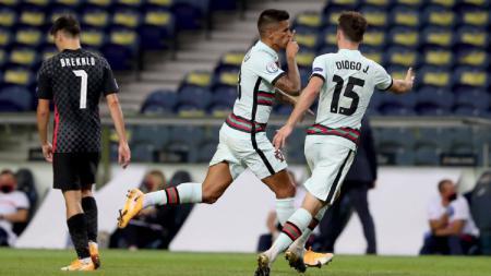 Berikut tersaji hasil pertandingan Grup C UEFA Nations League 2020 antara Timnas Portugal vs Kroasia, dimana tuan rumah sukses menang besar. - INDOSPORT