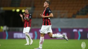 Striker muda AC Milan, Lorenzo Colombo mengaku sangat girang setelah mencetak gol pertamanya untuk tim senior Rossoneri.