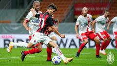 Indosport - Brahim Diaz beraksi dalam laga uji coba pramusim antara timnya, AC Milan, melawan AC Monza, Minggu (06/09/20).