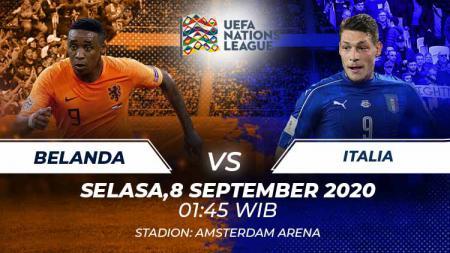 Berikut ini link live streaming pertandingan UEFA Nations League 2020 hari Selasa (08/09/20) dini hari WIB antara Belanda vs Italia. - INDOSPORT