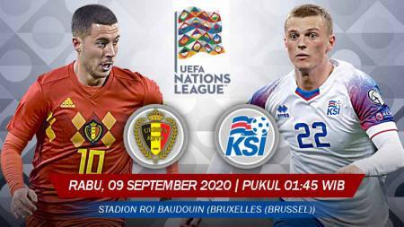 Berikut link live streaming pertandingan UEFA Nations League antara Belgia vs Islandia, Rabu (09/09/20) di Stadion King Baudouin, pukul 01.45 WIB. - INDOSPORT
