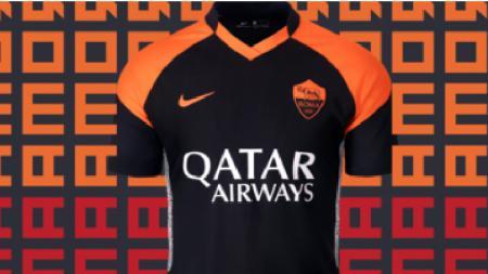Klub papan atas Serie A Italia, AS Roma, baru saja resmi memperkenalkan jersey tandang ketiga mereka untuk musim 2020-2021. - INDOSPORT