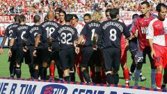 Indosport - Pertandingan pertama Juventus di Serie B 2006-2007 melawan Rimini, 9 September 2006.