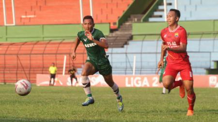 PSMS Medan saat melakoni uji coba jelang Liga 2 di Stadion Teladan, Selasa (08/09/20). - INDOSPORT