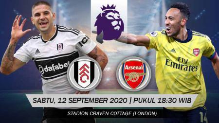 Berikut link live streaming pertandingan pembuka Liga Inggris 2020/21 antara Fulham vs Arsenal, Sabtu (12/09/20) pukul 18.30 WIB. - INDOSPORT