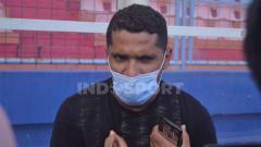 Indosport - Beto Goncalves, pemain pinjaman Sriwijaya FC.