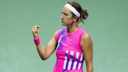 Victoria Azarenka di semifinal AS Terbuka 2020, mengalahkan Serena Williams. - INDOSPORT