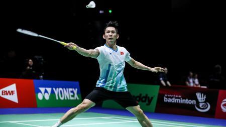 Pebulutangkis tunggal putra sekaligus 'Taufik Hidayat'-nya Vietnam, Tien Minh Nguyen baru mau akan pensiun dari dunia bulutangkis setelah meraih 500 kemenangan. - INDOSPORT