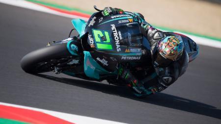Pembalap Petronas Yamaha SRT, Franco Morbidelli, keluar sebagai juara MotoGP San Marino 2020. - INDOSPORT