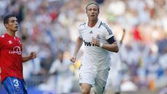 Indosport - Kapten Real Madrid era 2000-an, Guti Hernandez, dalam laga kontra Numancia, 14 September 2008.