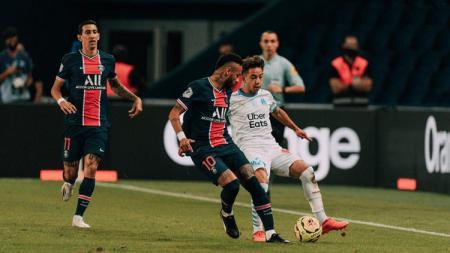 Paris Saint-Germain (PSG) bakal menghadapi Marseille di laga Trophee des Champions alias Piala Super Prancis, Kamis (14/1/21). - INDOSPORT