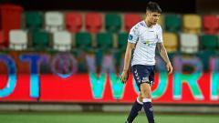 Indosport - Kevin Diks Bakarbessy, pemain Fiorentina keturunan Indonesia yang dipinjamkan ke Aargus AGF