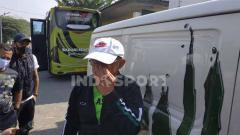 Indosport - Aji Santoso, pelatih Persebaya Surabaya.