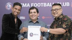 Indosport - Pelatih baru Arema FC, Carlos Carvalho De Oliviera.