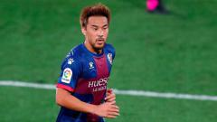 Indosport - Pemain Jepang, Shinji Okazaki, ikut membawa SD Huesca promosi ke LaLiga Spanyol musim ini.