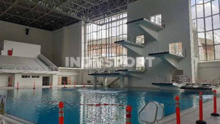 Pembangunan venue pertandingan yang dipersiapkan menjelang perhelatan event Pekan Olahraga Nasional (PON) XX di Papua tahun 2021. - INDOSPORT